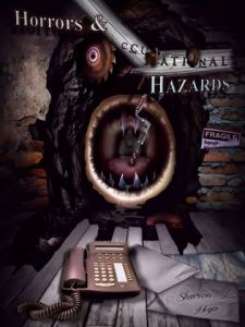 Front of Book Cover for 'Horrors & Occupational Hazards' VGW ill. artist